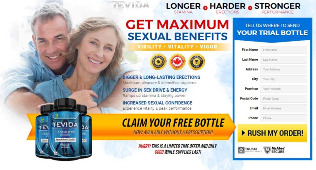 Tevida Male Enhancement Review: To add strength to a sexual performance Viagra is a Smart Choice, However, Don't you believe that it's time to try something exciting and new?