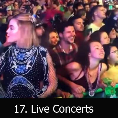 Best places to have sex in public, live concert sex
